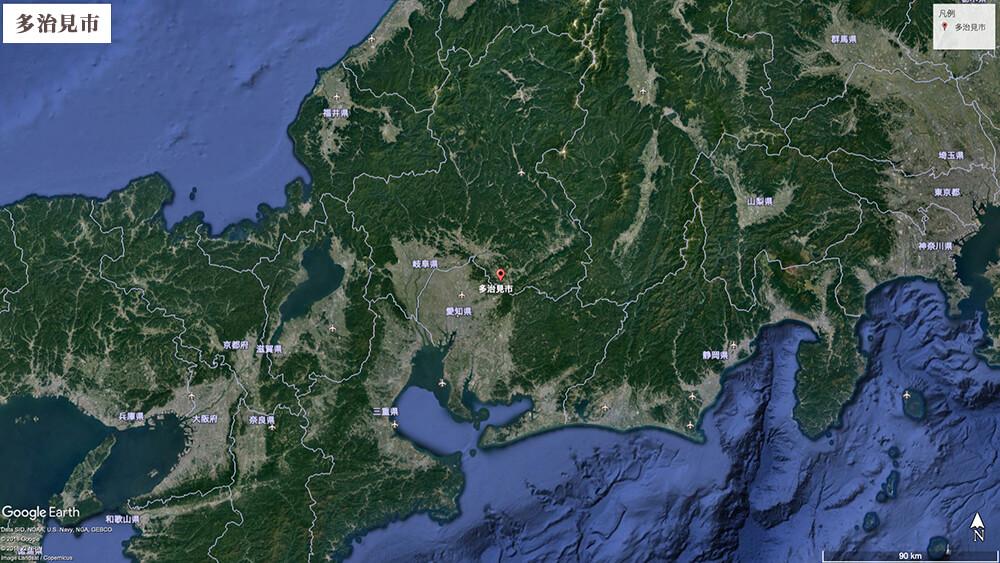 多治見地図